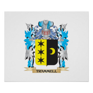 Trammell Coat of Arms - Family Crest Poster