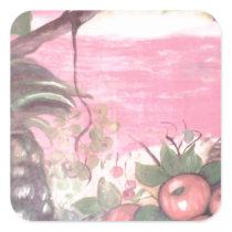tramonto di vita square sticker