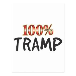 Tramp 100 Percent Postcard