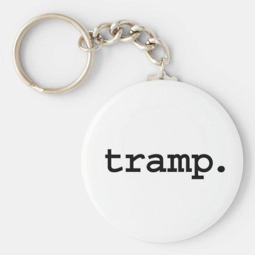 tramp. basic round button keychain