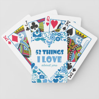 Tramp love letter bicycle playing cards