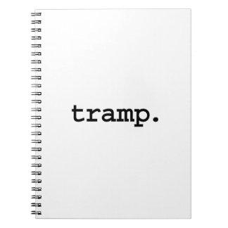 tramp. spiral note book