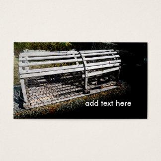 trampa de madera de la langosta tarjetas de visita