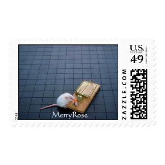 Trampa divertida del ratón timbre postal