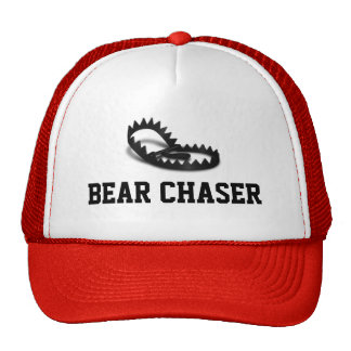 Trampa gris del oso del cazador del oso gorras de camionero