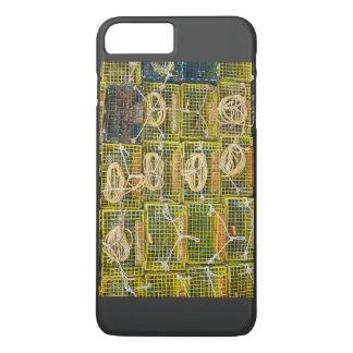 Trampas amarillas de la langosta apiladas en funda iPhone 7 plus