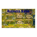 Trampas amarillas de la langosta apiladas en tarjeta de visita