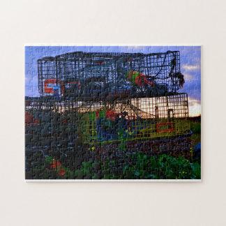 Trampas coloridas de la langosta puzzle