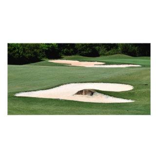 Trampas de arena del campo de golf tarjetas personales