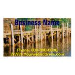 Trampas de la langosta apiladas en el embarcadero tarjeta de negocio