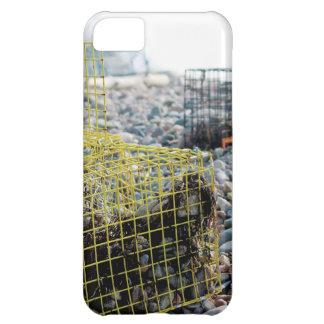 Trampas de la langosta en la playa rocosa carcasa iPhone 5C