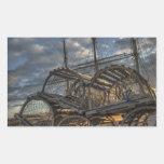 Trampas de la langosta y palos altos de la nave rectangular altavoz