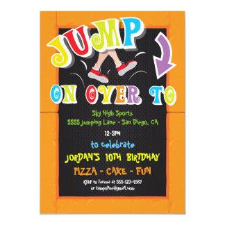 jump party invitations & announcements | zazzle
