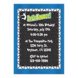"Trampoline Birthday Party Invitation 5"" X 7"" Invitation Card"