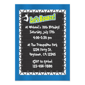 Trampoline Birthday Party Invitation 5