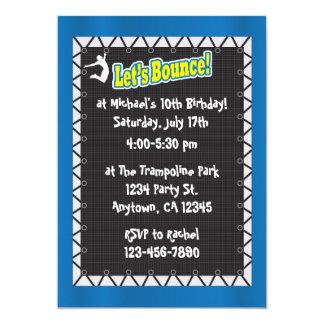 Trampoline Birthday Party Invitation