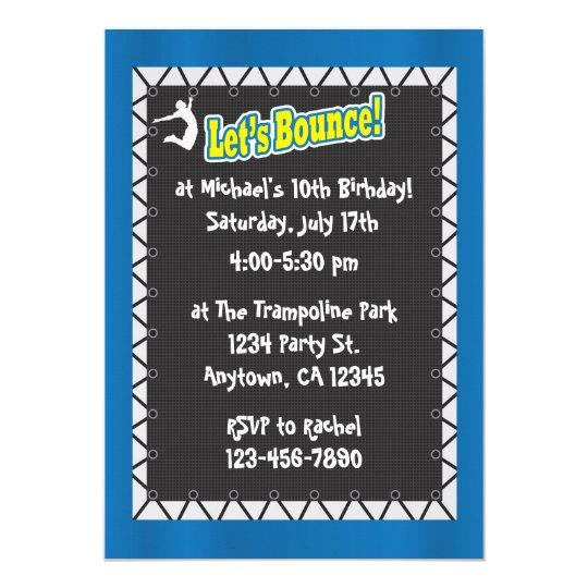 Trampoline Birthday Party Invitation Zazzlecom