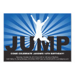 Trampoline Birthday Party Invitation for a Boy