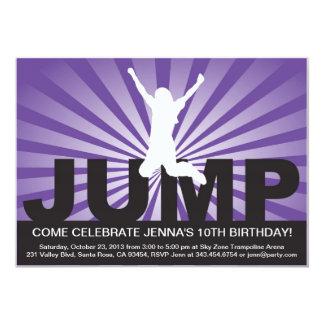 "Trampoline Birthday Party Invitation for a Girl 5"" X 7"" Invitation Card"