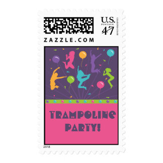 Trampoline Birthday Party Postage Stamps - Girls