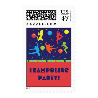 Trampoline Birthday Party Thank You Cards Postage