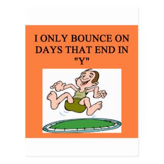 trampoline bounce postcard