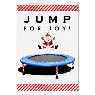 Trampoline Christmas Card