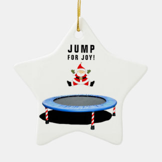 trampoline Christmas Ceramic Ornament