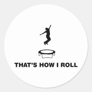 Trampoline Classic Round Sticker