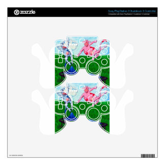 Trampoline cows PS3 controller skin