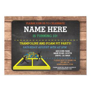 Trampoline Invitations Announcements Zazzle