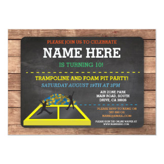 coach online factory outlet invitation 72k2  Trampoline Foam Pit Jump Party Birthday Fun Invite