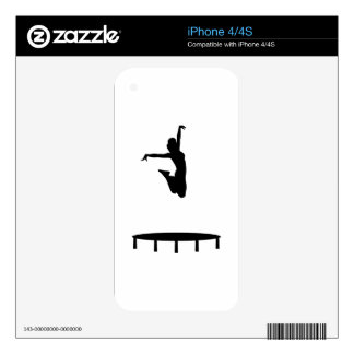 Trampoline girl decal for the iPhone 4S