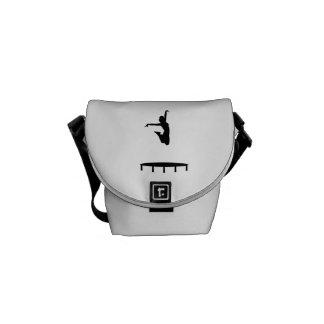Trampoline girl messenger bag