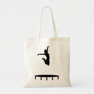Trampoline girl tote bag