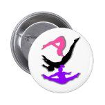 Trampoline gymnast 2 inch round button