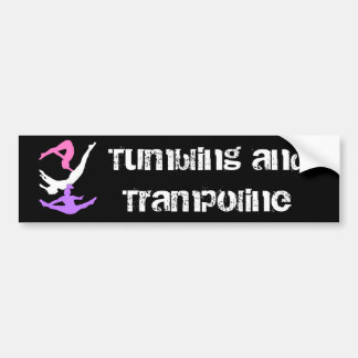 Trampoline gymnast bumper sticker
