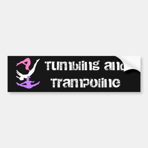 Trampoline gymnast bumper sticker car bumper sticker