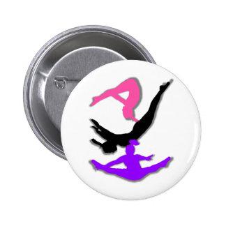 Trampoline gymnast button