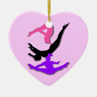 Trampoline gymnast ceramic ornament