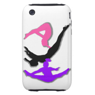 Trampoline gymnast iPhone 3 tough cover
