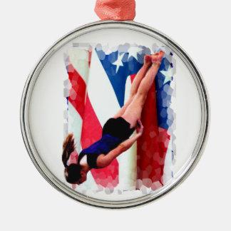 Trampoline Gymnast ornament