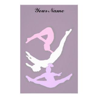 Trampoline gymnast stationary stationery