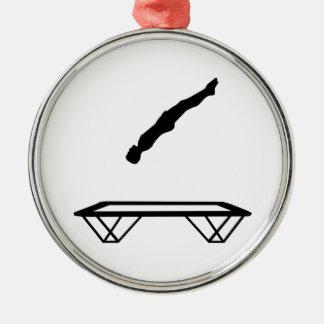 Trampoline man metal ornament