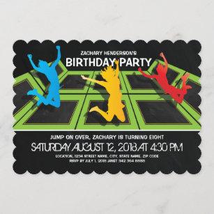 trampoline invitations zazzle