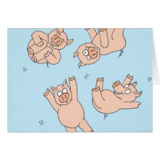 Trampoline Pigs Card