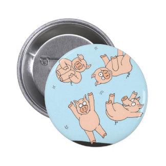 Trampoline Pigs Pinback Button
