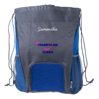Trampoline Queen Drawstring Backpack