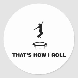 Trampoline Round Sticker
