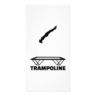 Trampoline trampolinist card